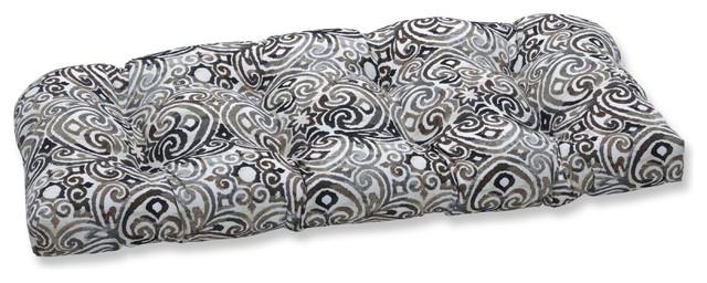 "Black Tufted Loveseat Cushion Outdoor//Indoor Fresco 44/"" x 19/"""