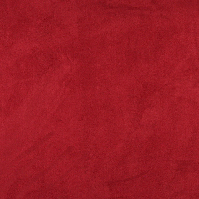 C067 Red Microsuede Fabric By The yard