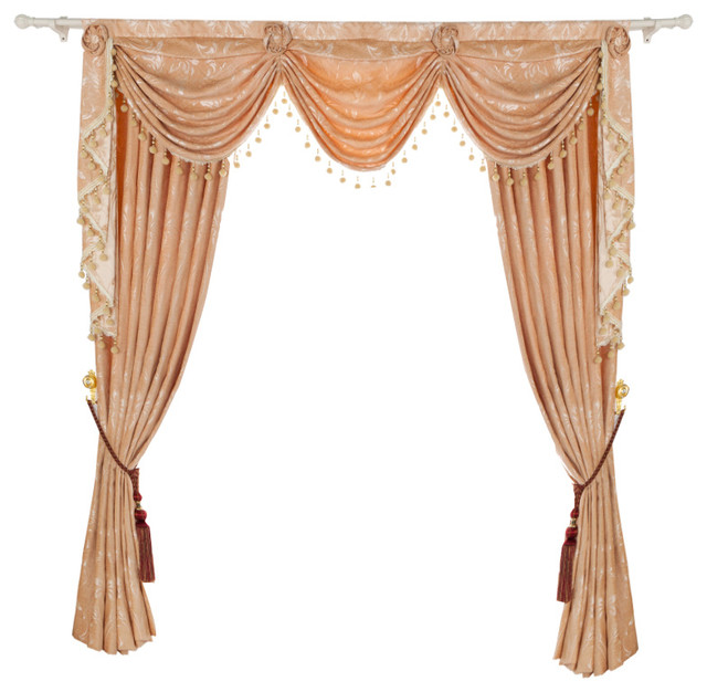 Luxurious Window Curtain Creamy Touch 100 X96 2 Panels With Valance