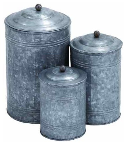 galvanized metal trunk rustic metal galvanized canisters 3 piece set farmhouse
