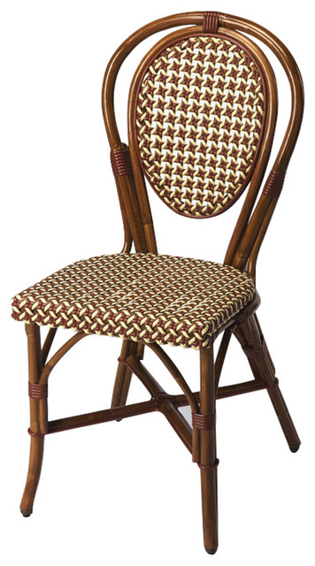 Leena Rattan Side Chair Tropical Dining Chairs By