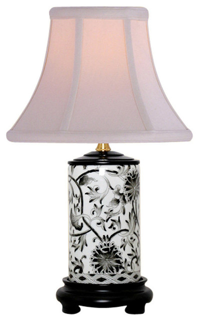 Asian Table Lamps Inspiration Black And White Tapestry Porcelain Vase Table Lamp 60 Asian