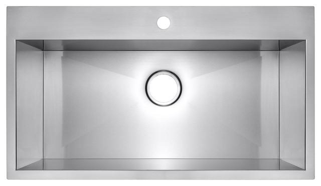 "33""x22""x9"" Akdy Top Mount Handmade Stainless Steel Single Basin Kitchen Sink"