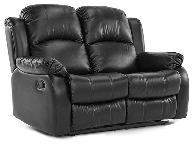 Enjoyable Classic Double Reclining Loveseat In Bonded Leather With High Density Foam Forskolin Free Trial Chair Design Images Forskolin Free Trialorg