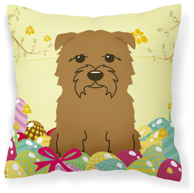 Easter Eggs Glen of Imal Tan Fabric Decorative Pillow