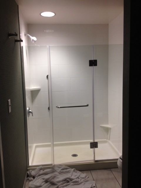 Stayed in hotel and want shower like this...