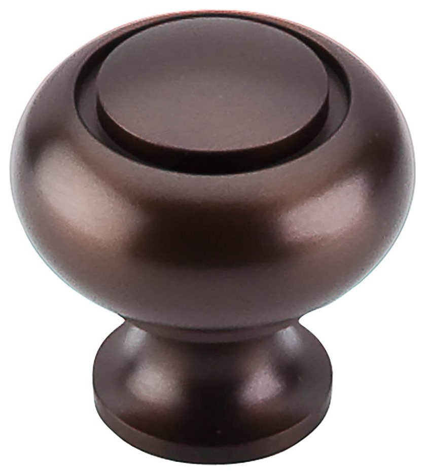 New Amerock BP53011-ORB Round Ring Oil-Rubbed Bronze Kitchen Cabinet Knob