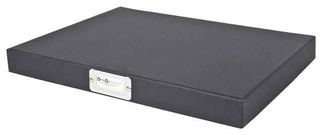 Sixteen Hinged Lid Storage Box, Dark Grey Modern Storage Bins And