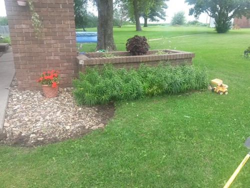 garden design ideas for a raised brick flower bed
