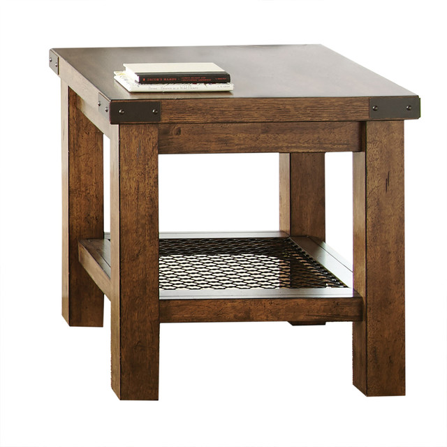 Hailee End Table, Natural.