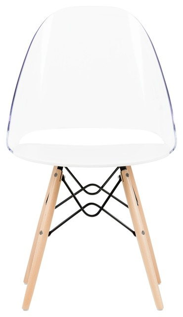 South Shore Annexe Clear And White Eiffel Style Office Chair.