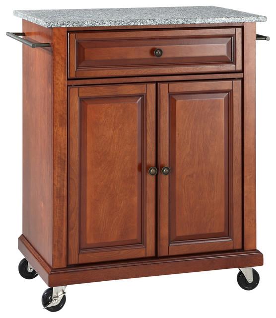 crosley crosley furniture solid granite top kitchen cart