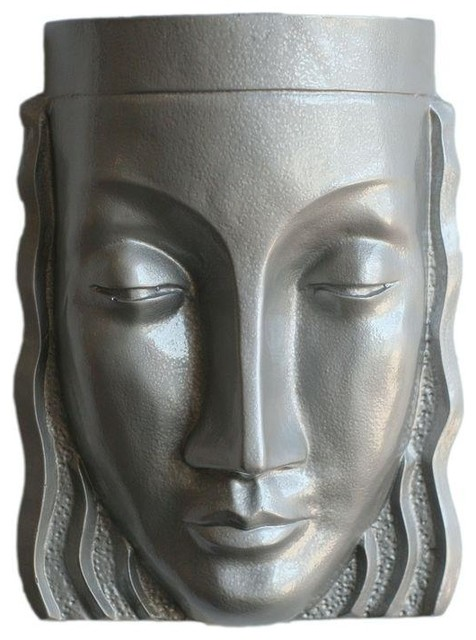 Art Deco Style Sculptural Female Face Wall Sconce
