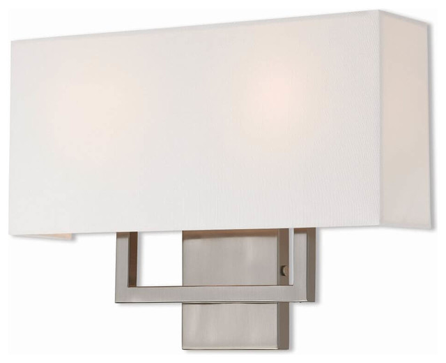 2-Light Brushed Nickel ADA Wall Sconce