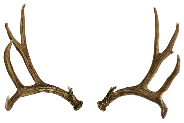 Faux Deer Antler Set Mule Deer Right Left Rustic Wall