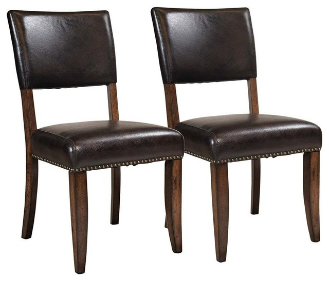Cameron Parson Dining Chairs Set Of 2 Transitional