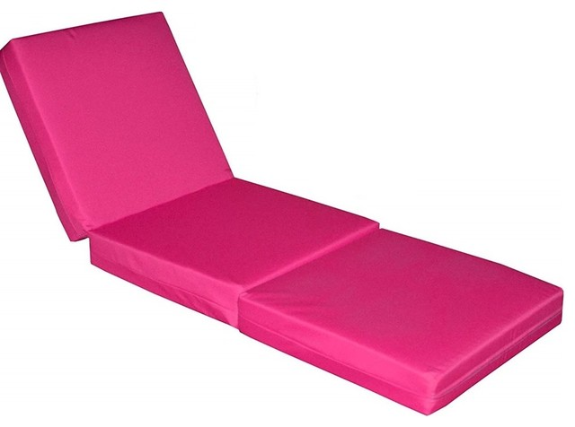 Large Cube Sofa Bed Upholstered, Soft Fabric, Pink