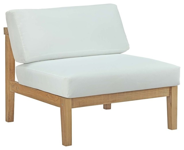 Bayport Outdoor Patio Teak Armless Chair.