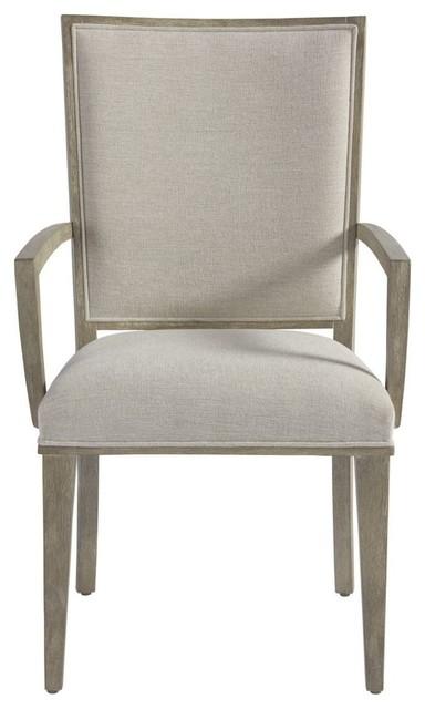Coastal Zephyr Grey Dining Arm Chair