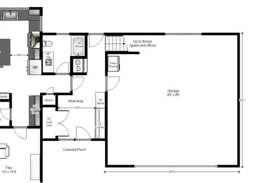 Critique my garage entry mudroom bath layout for Mudroom layout