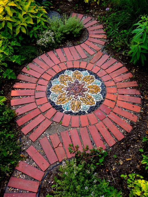 Herb Garden Mosaic rustic