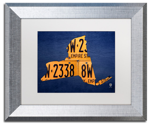 New York License Plate Map\