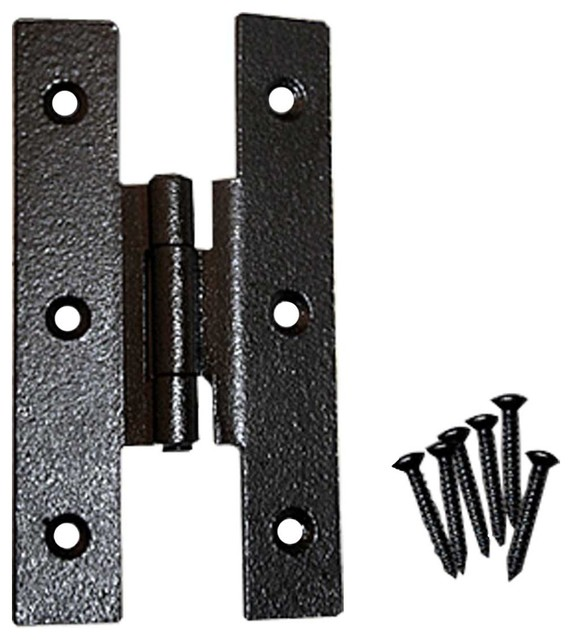 "Cabinet Hinges Black Wrought Iron H Hinge 3 1/2""Hx3/8 Offset - Modern - Home Improvement - by ..."
