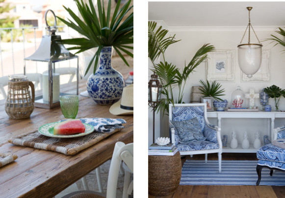 Example of a coastal living room design in Perth