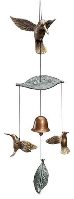 Hummingbird Trio Wind Chime Tropical Wind Chimes By Unbeatablesale Inc
