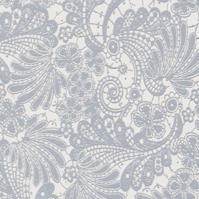 Interlace blue floral wallpaper traditional wallpaper by walls republic - Cannon bullock wallpaper ...