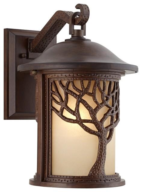 arts and crafts exterior wall lighting. arts and crafts - mission bronze style tree 15\ exterior wall lighting o