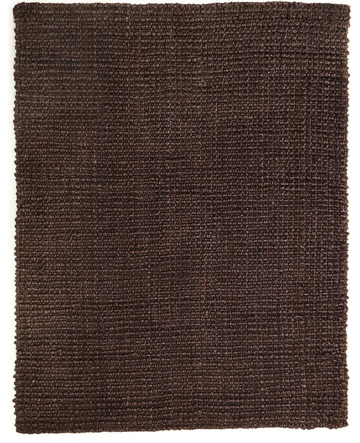Natural Fiber Everest 4u0027x6u0027 Rectangle Dark Brown Area Rug  Contemporary Area