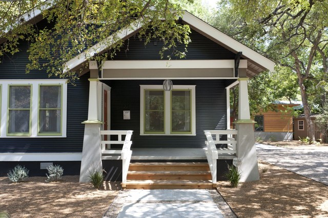 Travis Heights Front Porch Craftsman Exterior