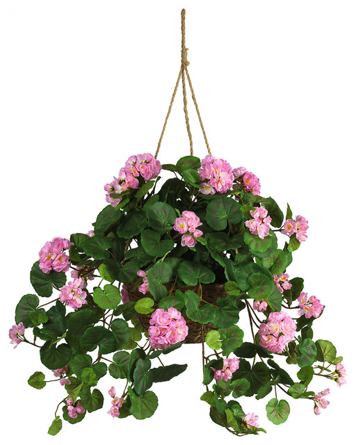 Hanging Baskets With Artificial Flowers Click To Enlarge