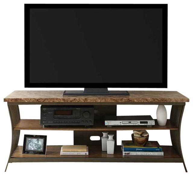 Collison Faux Marble Top Tv Stand