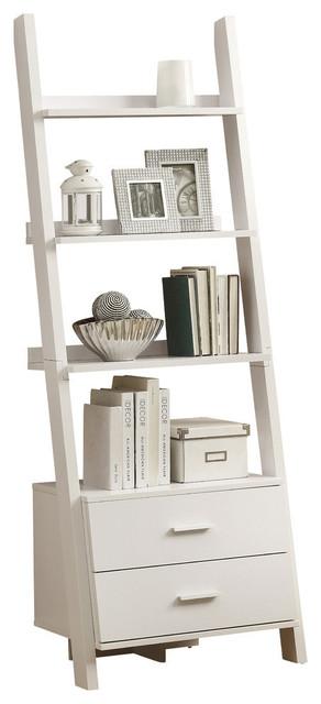Houzz Monarch Specialties Bookcase 69 H Cuccino Ladder