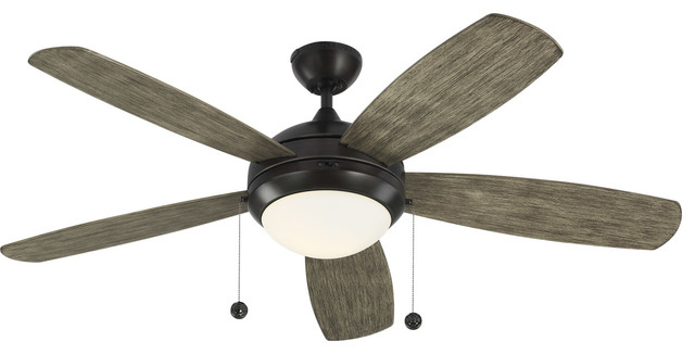 Discus 1-Light Indoor Ceiling Fans, Aged Pewter.