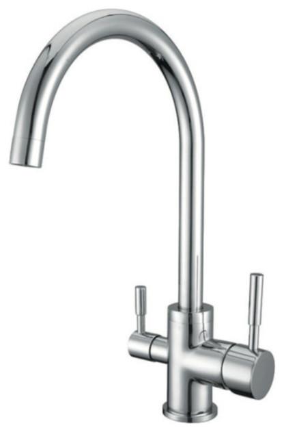 Elegant 3 Way Kitchen Faucet Contemporary Kitchen