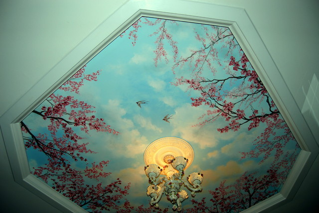 Cherry Blossom Trees Ceiling Mural By Tom Taylor Of Wow Effects Contemporary