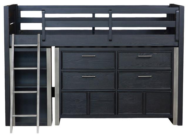 Samuel Lawrence Mid-Bedroom Set, Black.