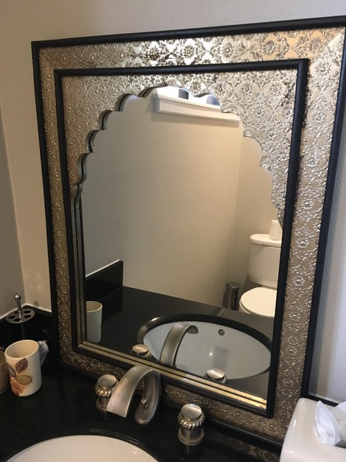 Vanity Lighting With A Moroccan Mirror