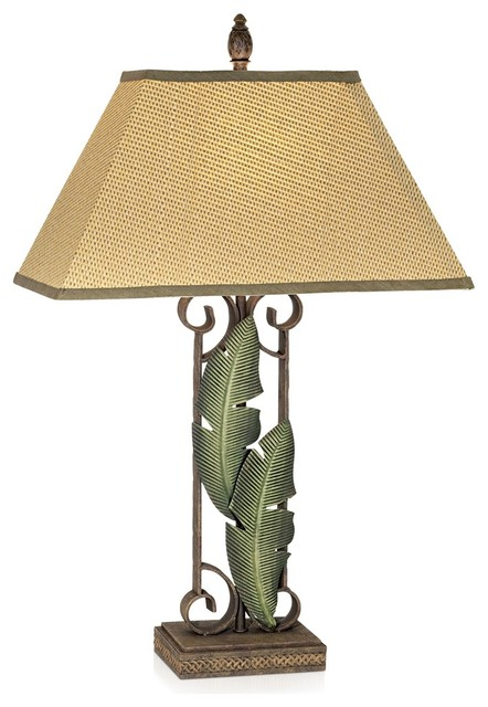 Captivating Pacific Coast Banana Leaves Table Lamp, Multitone Paradise Tropical Table  Lamps