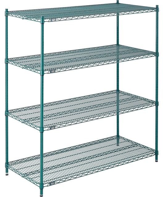 Nexel 4-Tier Wire Shelving Unit, 24\