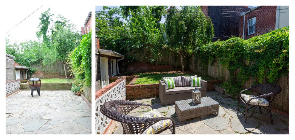 Before and after: back patio