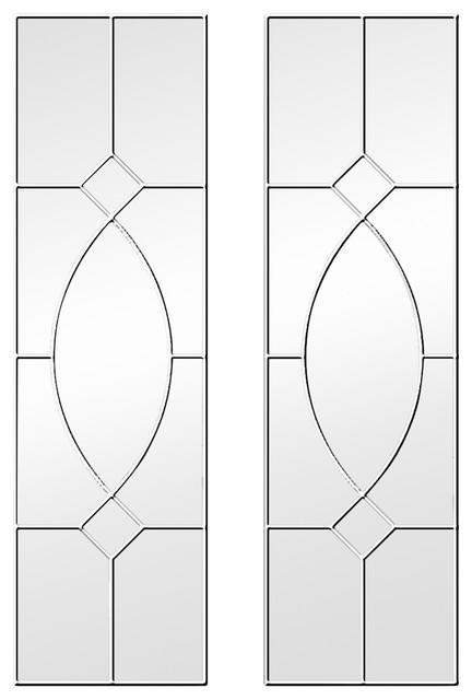 Gretta Gothic Original Window Mirrors, Set of 2, White, 100x25 Cm