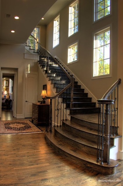 Staircase ideas traditional staircase dallas by veranda fine homes for Home designer stairs with landing