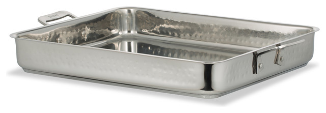Cucina Square Pan, Hammered Finish, Induction Bottom, Large.
