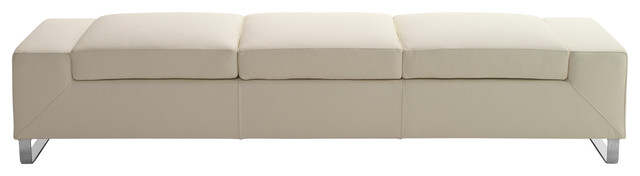 Gobeyond Oversized Backless Sofa, Light Beige, Three-Seater.