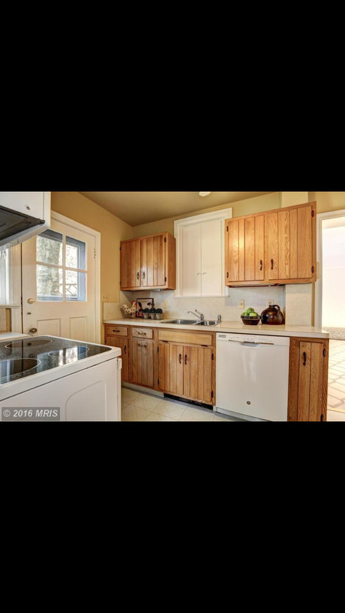Galley kitchen remodel, knock down wall, refinish cabinets