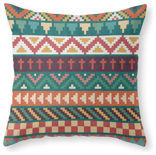 Southwestern Print Throw Pillows : Southwestern Pattern Throw Pillow - Southwestern - Decorative Pillows - by Society6